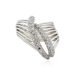 14KT White Gold 0.50 ctw Diamond Ring