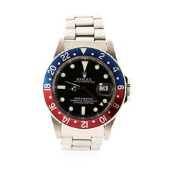 Gents Rolex Stainless Steel GMT-Master Date Wristwatch