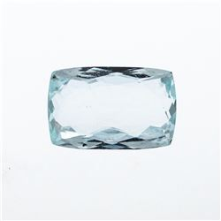6.90 ct. Natural Cushion Cut Aquamarine