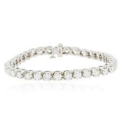 14KT White Gold 6.98 ctw Diamond Tennis  Bracelet