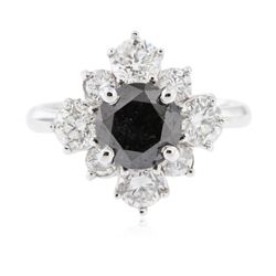 14KT White Gold 2.56 ctw Black Diamond Ring