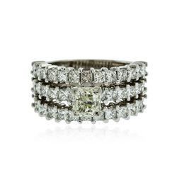 Platinum 2.77 ctw Diamond Ring