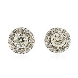 18KT White Gold 1.39 ctw Diamond Stud Earrings