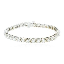 14KT White Gold 5.48 ctw Diamond Bracelet