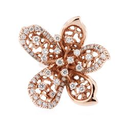 14KT Rose Gold 1.29 ctw Diamond Ring