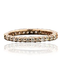 14KT Rose Gold 0.70 ctw Diamond Ring
