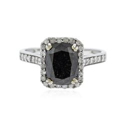 14KT White Gold 3.47 ctw Black Diamond Ring
