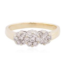 14KT Two-Tone Gold 0.35 ctw Diamond Ring