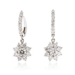 14KT White Gold 2.28 ctw Diamond Earrings