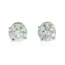 14KT White Gold 1.46 ctw Diamond Solitaire Earrings