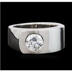 14KT White Gold 1.02 ctw Brilliant Cut Diamond Solitaire Ring