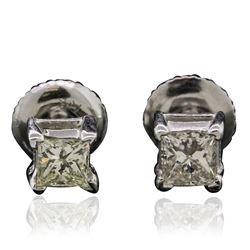 14KT White Gold 0.60 ctw Diamond Stud Earrings