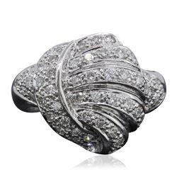 18KT White Gold 0.85 ctw Diamond Ring