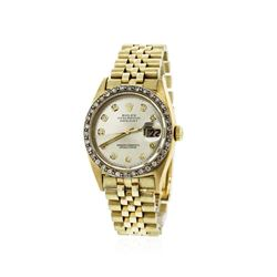 Gents Rolex 18KT Yellow Gold Diamond DateJust Wristwatch