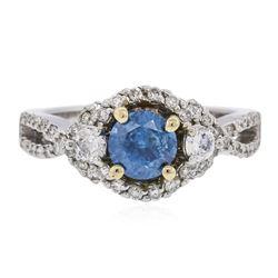14KT Two-Tone Gold 1.18 ctw Brilliant Cut Diamond Ring