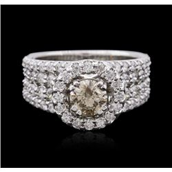 14KT White Gold 2.51 ctw Diamond Ring