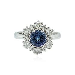 14KT White Gold 1.74 ctw Tanzanite and Diamond Ring