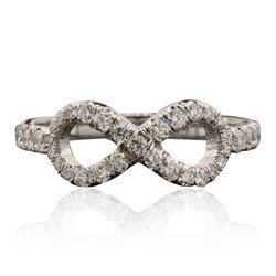 14KT White Gold 0.56 ctw Diamond Ring