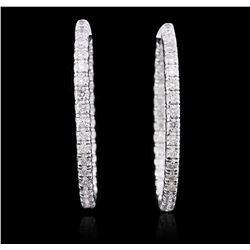 14KT White Gold 5.89 ctw Diamond Earrings