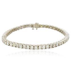 14KT White Gold 7.33 ctw Diamond Bracelet