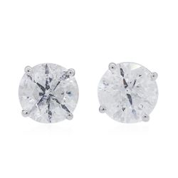 14KT White Gold 1.74 ctw Diamond Stud Earrings