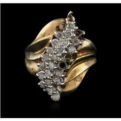 10KT Yellow Gold 0.95 ctw Diamond Ring