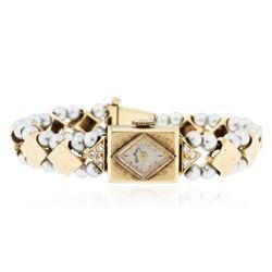 Ladies 14KT Gold Lucien Piccard Wristwatch