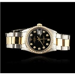 Gents Rolex Two-Tone Diamond Date Vintage Wristwatch