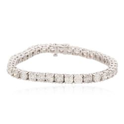 14KT White Gold 11.53 ctw Diamond Tennis Bracelet