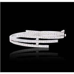 14KT White Gold 3.66 ctw Diamond Bracelet