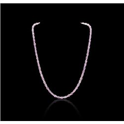 14KT White Gold 15.00 ctw Pink Sapphire and Diamond Necklace