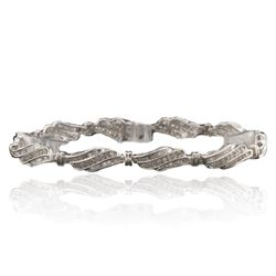 10KT White Gold 2.50 ctw Diamond Bracelet