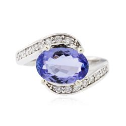 14KT White Gold 2.09 ctw Tanzanite and Diamond Ring