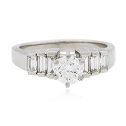 Platinum 1.14 ctw Brilliant Cut Diamond Ring