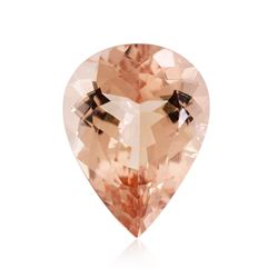 15.12 ctw. Natural Pear Cut Morganite