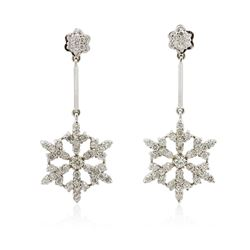 14KT White Gold 2.20 ctw Diamond Earrings