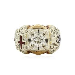 10KT Two-Tone Gold 1.00 ctw Diamond Ring