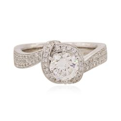 18KT White Gold EGL Certified 1.36 ctw Diamond Ring
