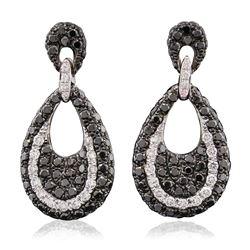 14KT White Gold 0.25 ctw Diamond Earrings