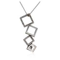 14KT White Gold 0.58 ctw Diamond Pendant With Chain