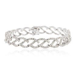 18KT White Gold 3.74 ctw Diamond Tennis Bracelet