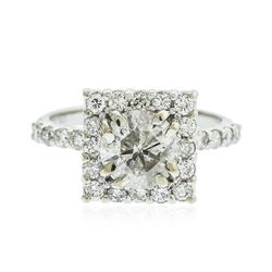 14KT White Gold 2.43 ctw Diamond Ring