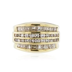 14KT Yellow Gold 3.64 ctw Diamond Ring