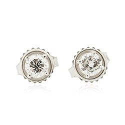 14KT White Gold 0.56 ctw Diamond Stud Earrings