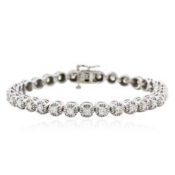 14KT White Gold 3.26 ctw Diamond Tennis Bracelet