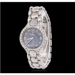 Ebel Beluga Stainless Steel Diamond Wristwatch