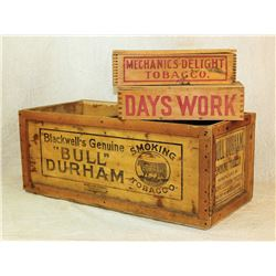 Early Chewing Tobacco Boxes