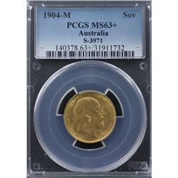 1904-M Sovereign PCGS MS63+