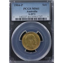 1904-P Sovereign PCGS MS61