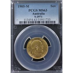 1905-M Sovereign PCGS MS63